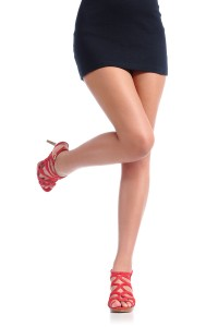 Woman's legs and skirt