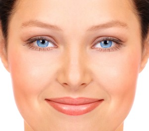 Woman's face with beautiful skin